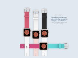Apple Watch Band 38mm Soft Silicone Replacement Band-min