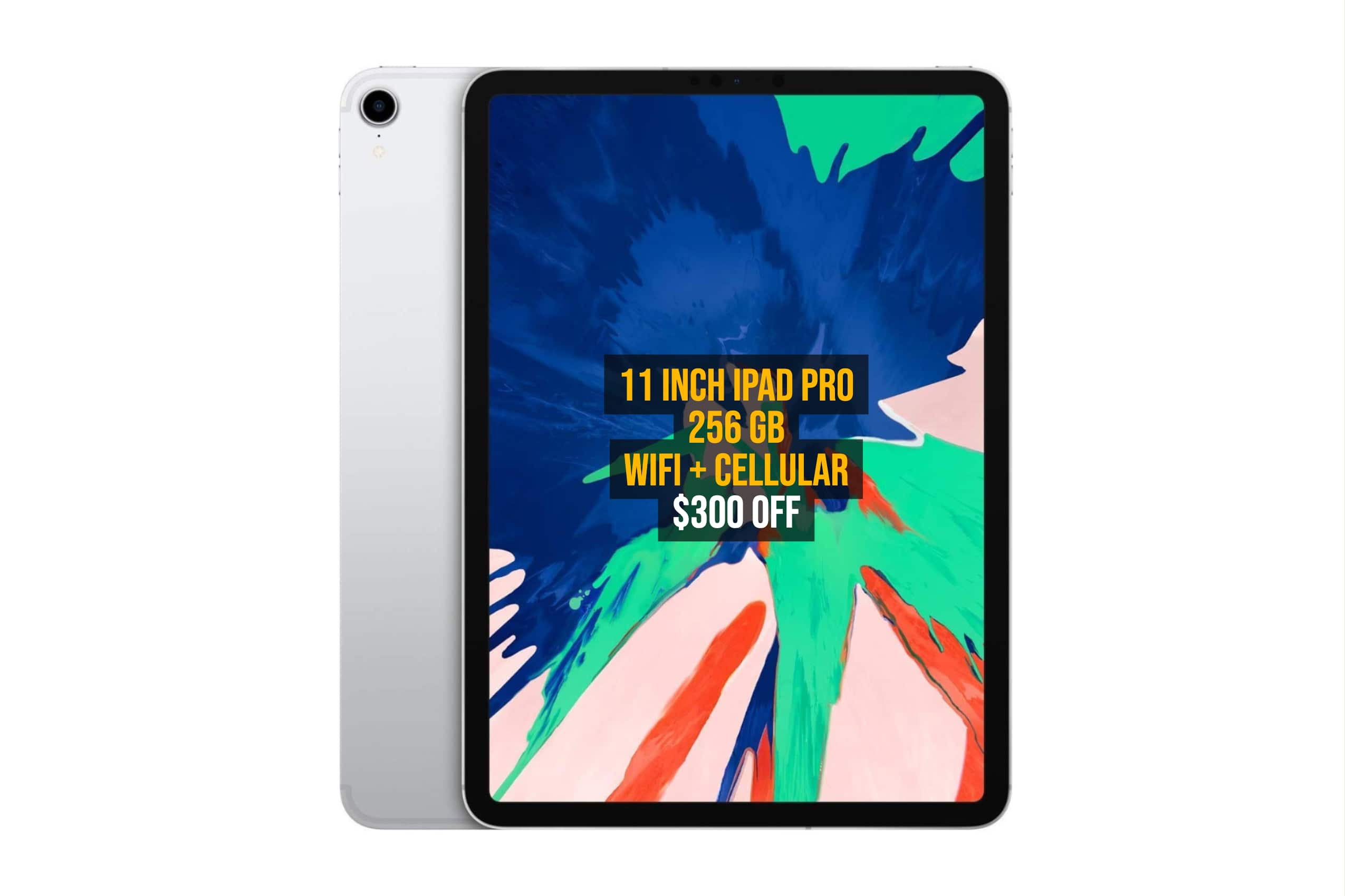 Great! 256 GB 11 inch iPad Pro is $300 OFF For Today ...