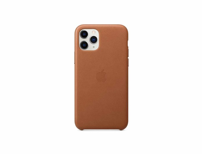 Apple Leather Case (for iPhone 11 Pro) - Saddle Brown -min