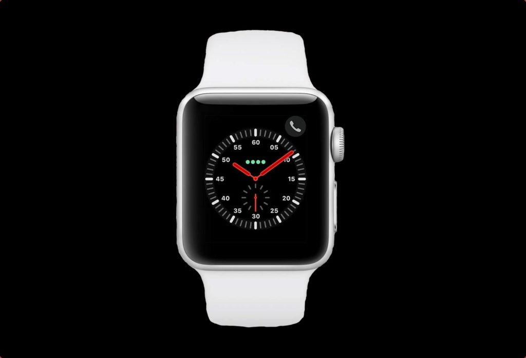 Apple Watch Series 3 (GPS + Cellular, 38mm) - Silver Aluminium Case with White Sport Band