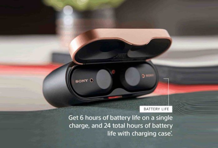 Sony WF-1000XM3 Industry Leading Noise Canceling Truly Wireless Earbuds,