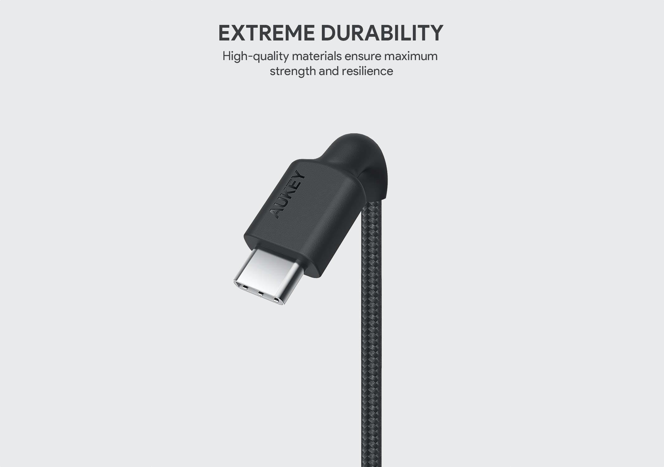 AUKEY USB C to Lightning Cable 6.6ft iPhone 11 Charger-min