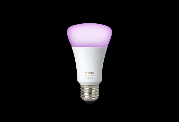 _Philips Hue White and Color Ambiance 3rd Generation A19 10W Equivalent Dimmable LED Smart Bulb-min