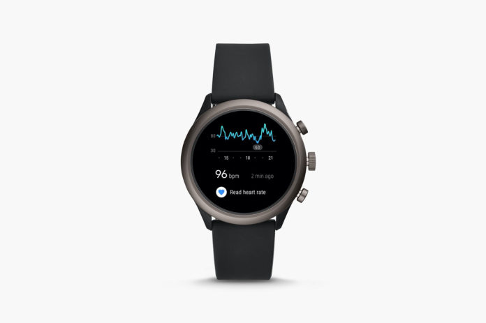 Fossil Men's Sport Metal and Silicone Touchscreen Smartwatch with Heart Rate-min