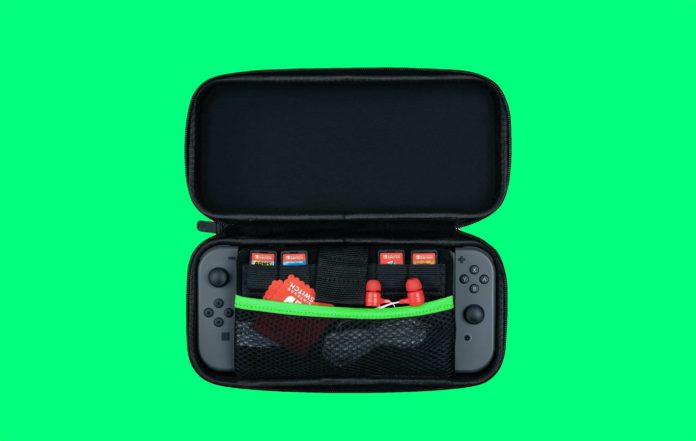 PDP Nintendo Switch Slim Travel Case Zelda Retro Edition-min