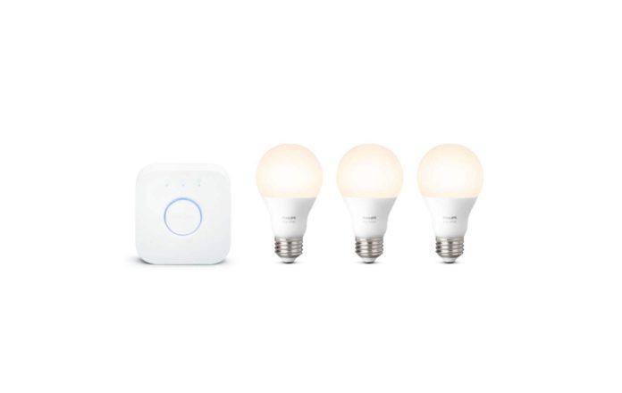 Philips Hue White LED Smart Light Bulb Starter Kit
