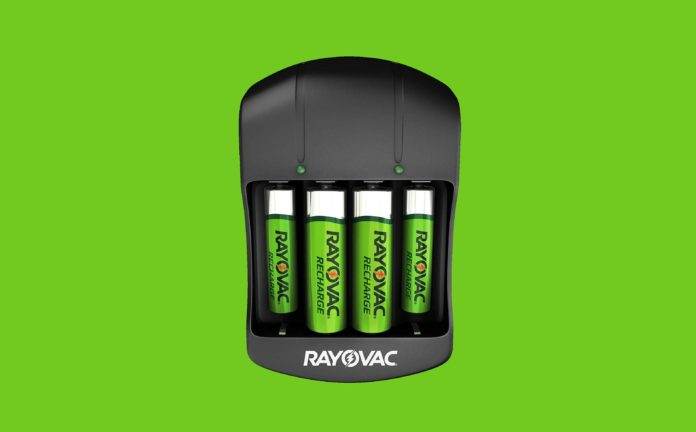 Rayovac AA & AAA Rechargeable Batteries with Battery Charger-min
