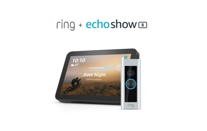 Ring Video Doorbell Pro with Echo Show 8-min