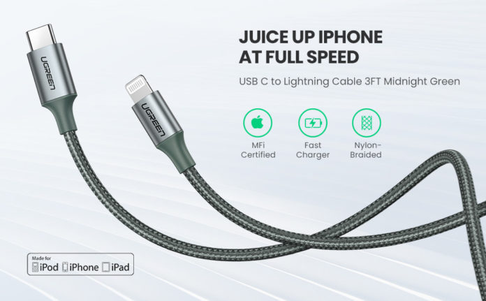 UGREEN USB-C to Lightning Cable-min