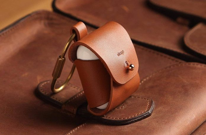elago Leather AirPods Case Designed for Apple AirPods-min