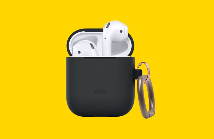 _elago Silicone Case with Keychain Designed for Apple AirPods Case -min
