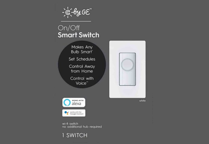 C by GE On:Off 4-Wire Button Style Smart Switc