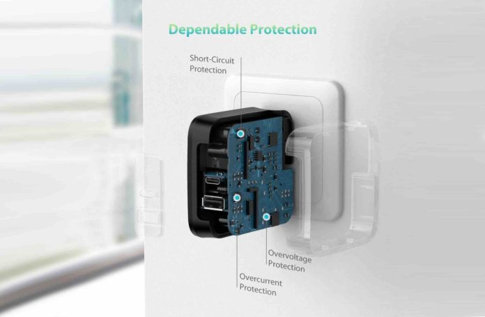 RAVPower 61W PD 3.0 Wall Charger Power Delivery