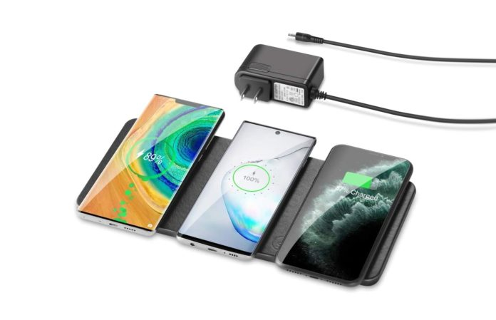 ZealSound Qi-Certified Ultra-Slim Triple Wireless Charger Station-min