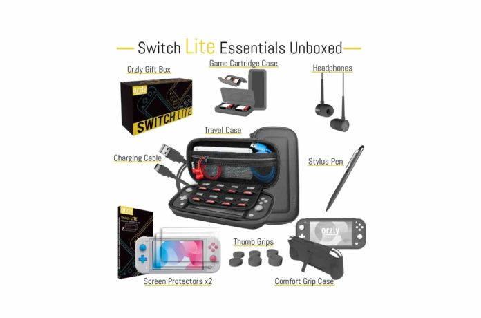 Orzly Switch Lite Accessories Bundle-min