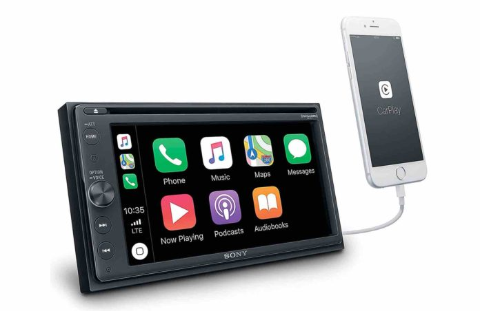 Sony XAVAX210SXM 6.4 Apple Car Play Android Auto CD :DVD Receiver with Bluetooth