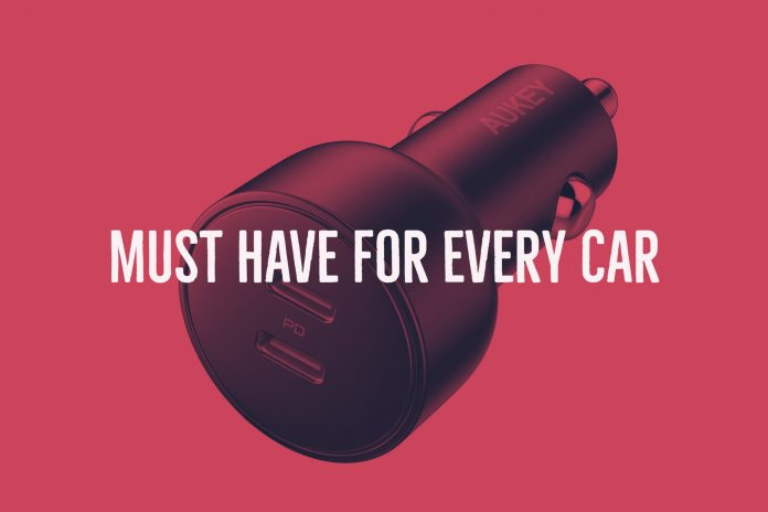 AUKEY 36W Dual PD Car Charger1