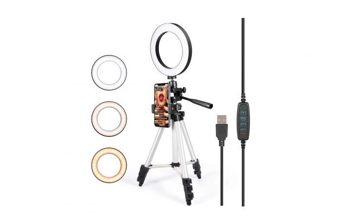 GLCON Selfie Ring Light with Tripod Stand-min