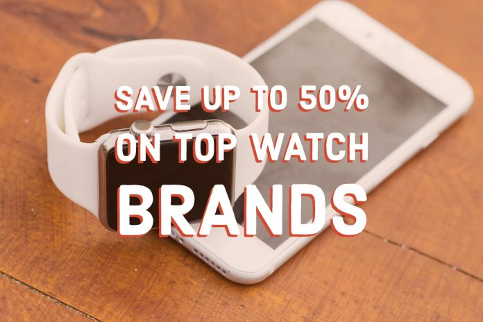 Save up to 50% on Top Watch Brands