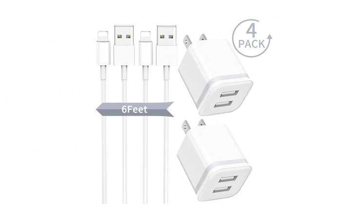 Phone Charger with Wall Plug 4-Pack-min