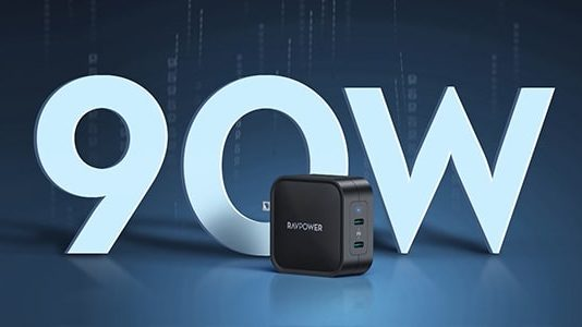RAVPower 90W 2-Port Wall Charger-min (1)
