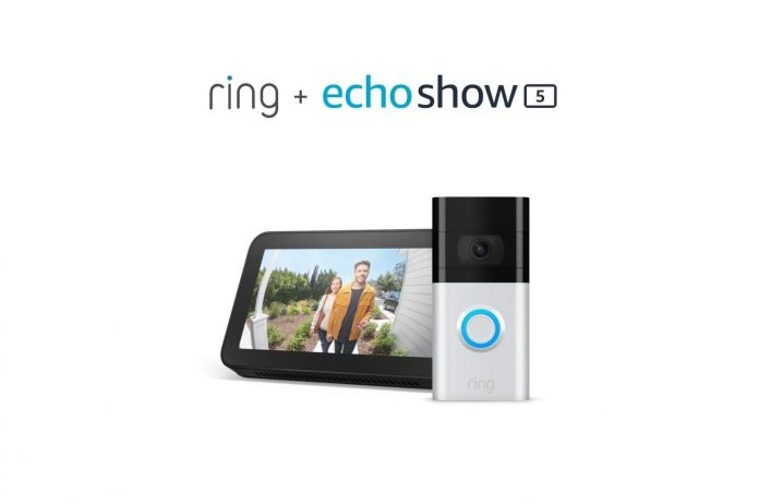 Ring Video Doorbell 3 with Echo Show 5-min