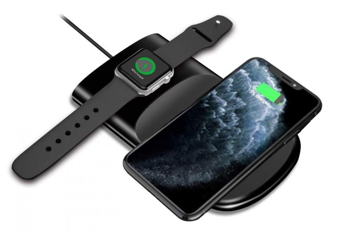 2 in 1 Wireless Charging Pad for Apple Watch Series-min