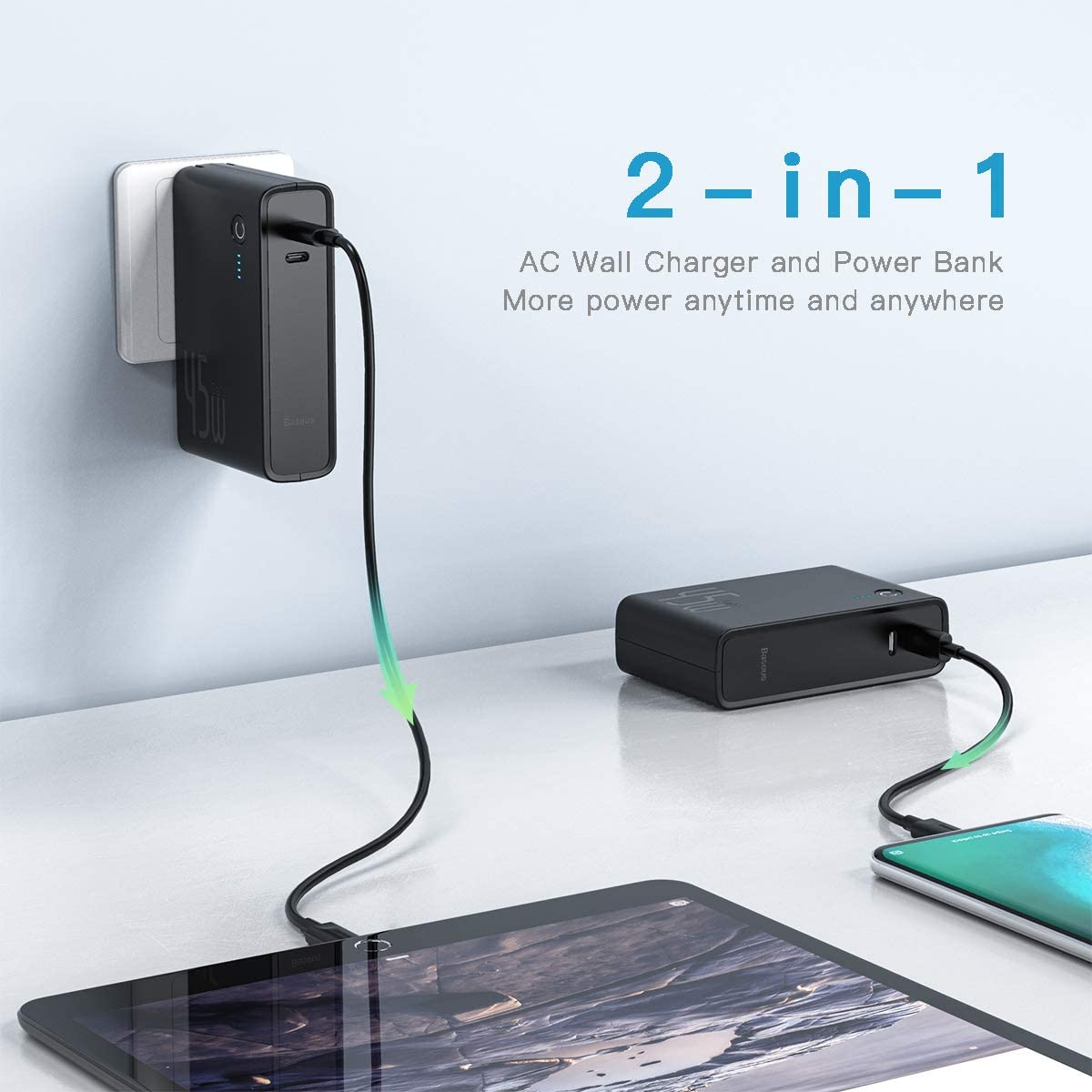 Baseus 2-in-1 10000mAh Power Bank