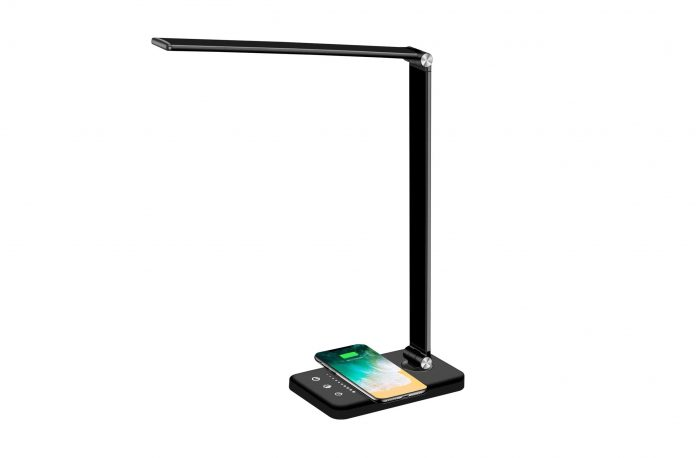 Multifunctional LED Desk Lamp with Wireless Charger-min