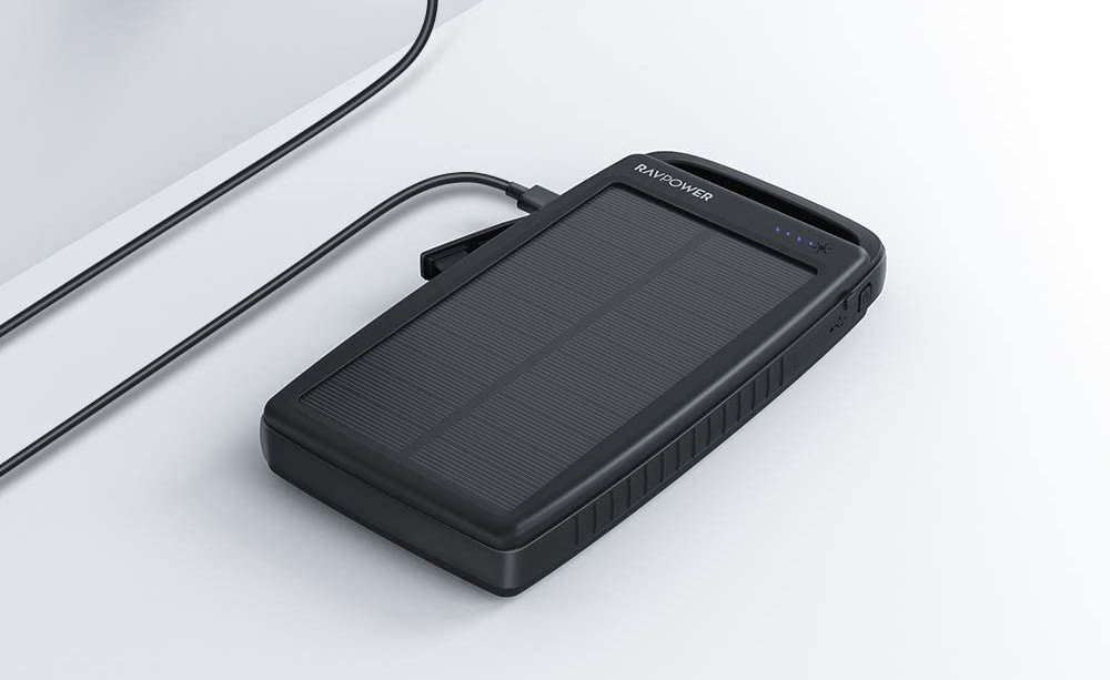 RAVPower 20000mAh Portable Charger Solar Power Bank