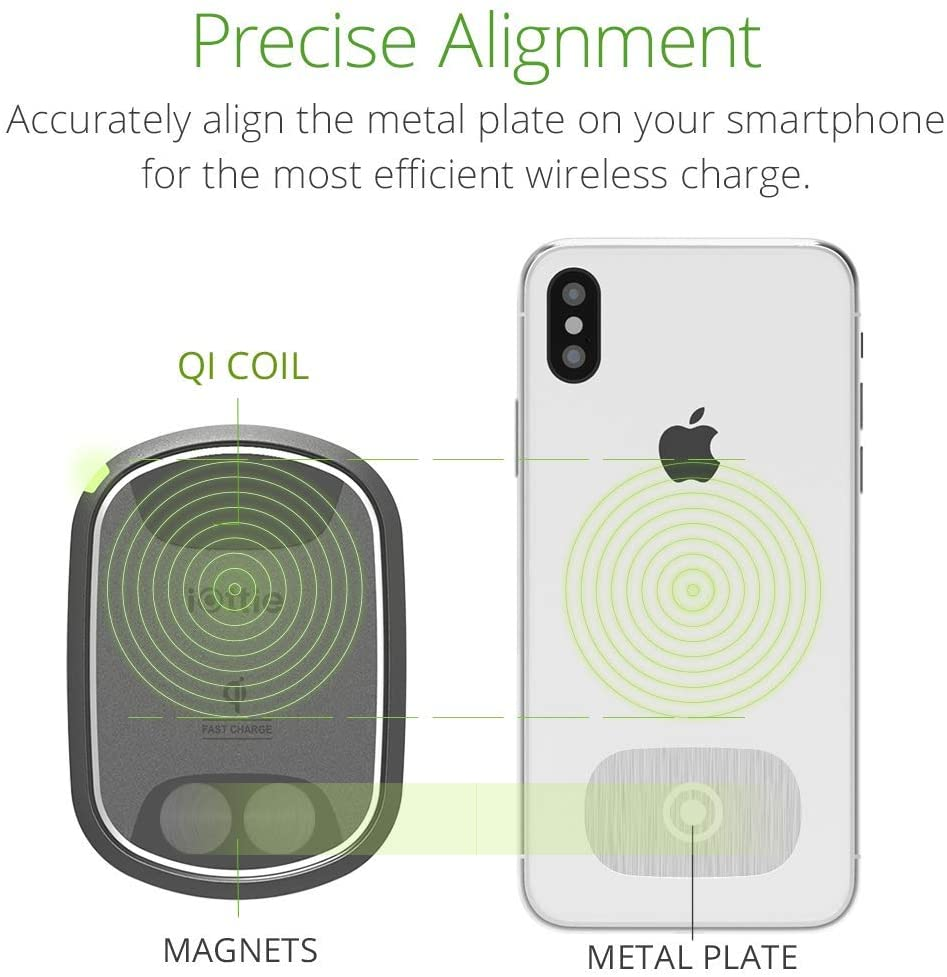 iOttie iTap 2 Wireless Magnetic Qi Wireless Charging Air Vent Mount