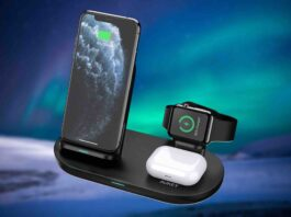 AUKEY 3 in 1 Wireless Charging Station Stand