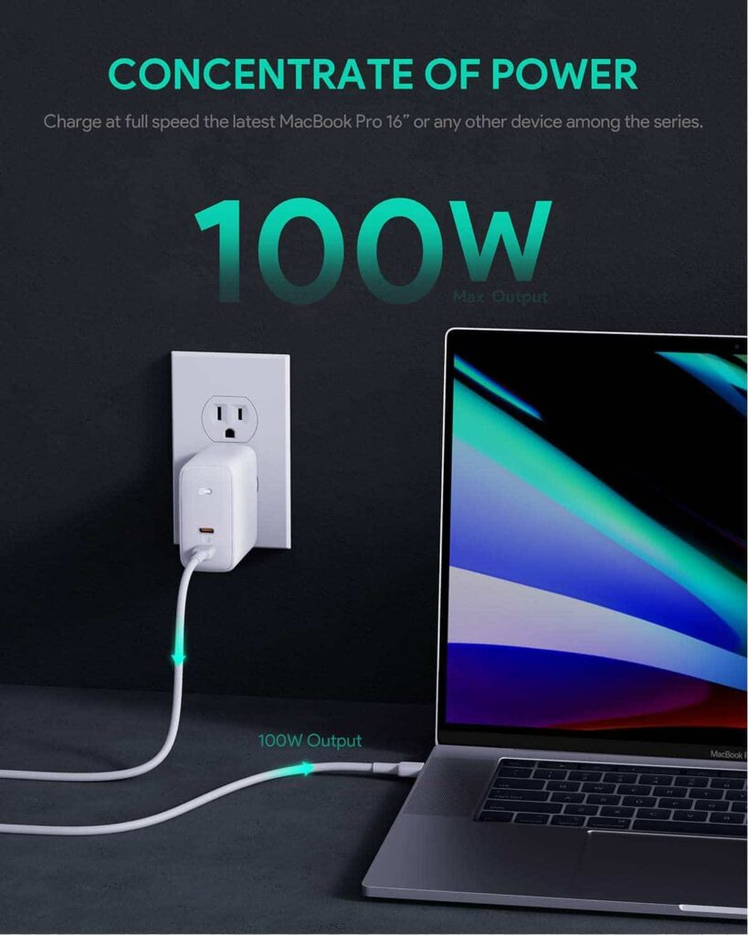 AUKEY Omnia 100W 2-Port PD Charger-min