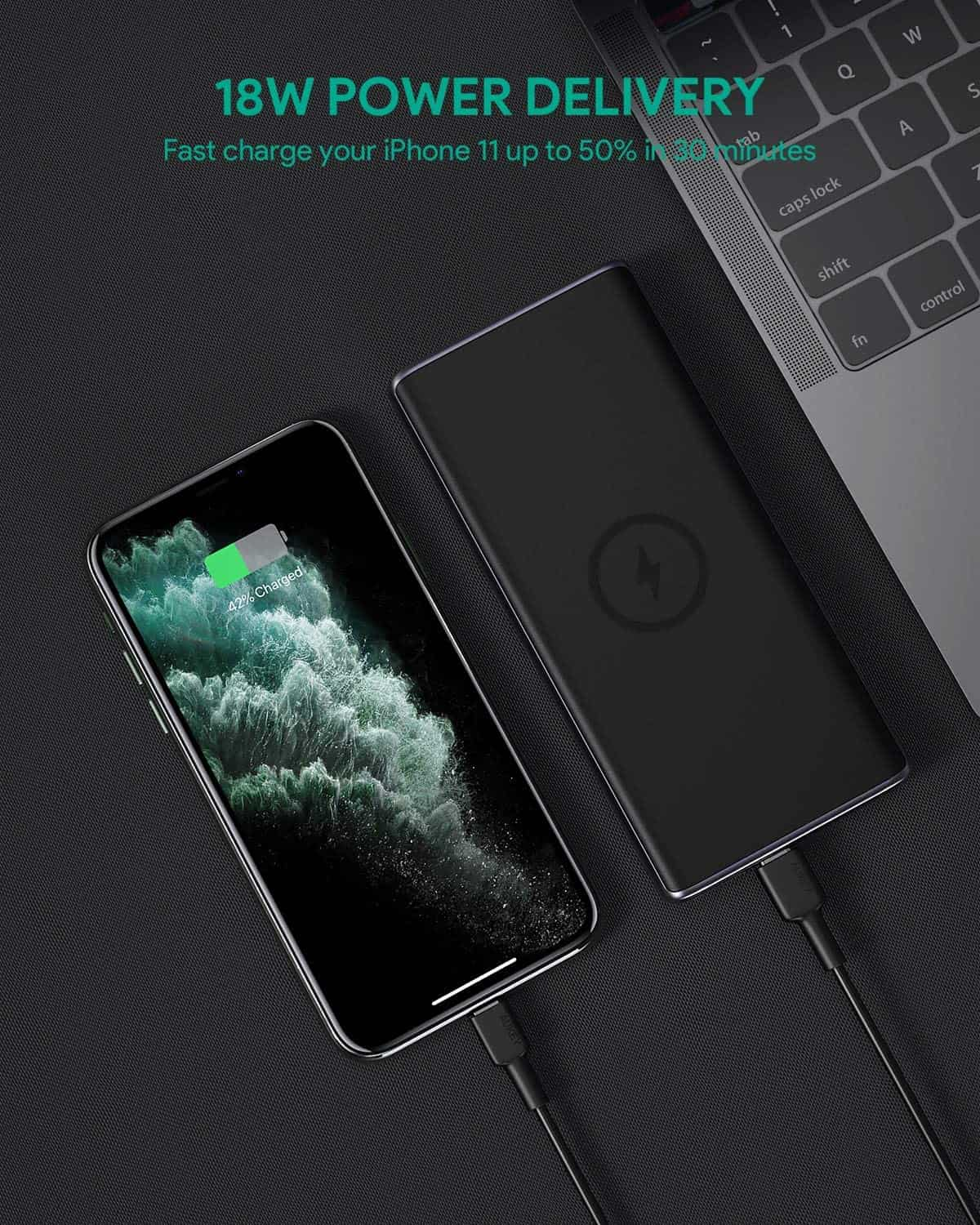 AUKEY Wireless Power Bank for iPhone