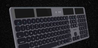 Macally Bluetooth Wireless Solar Keyboard for Mac