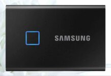 SAMSUNG T7 Touch Portable SSD 1TB