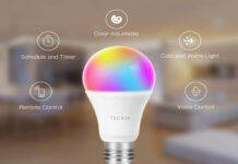TECKIN A19 E26 WiFi Multicolor LED Bulb