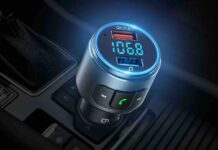 VicTsing (Upgraded Version) V5.0 Bluetooth FM Transmitter for Car