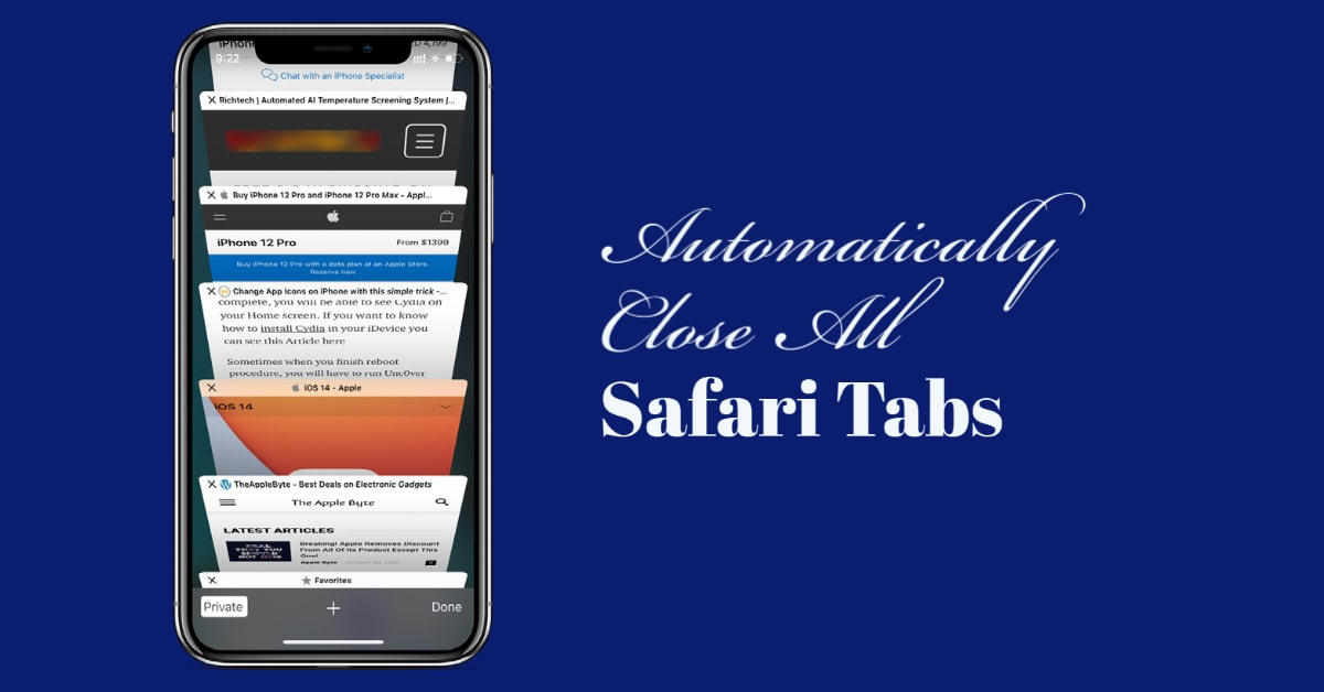 How To Close All Safari Tabs Automatically on iPhone