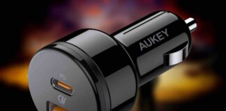 AUKEY 36W USB C Car Charger