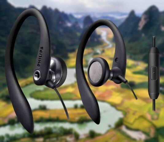 Philips Over The Ear Sport Earbuds with Mic