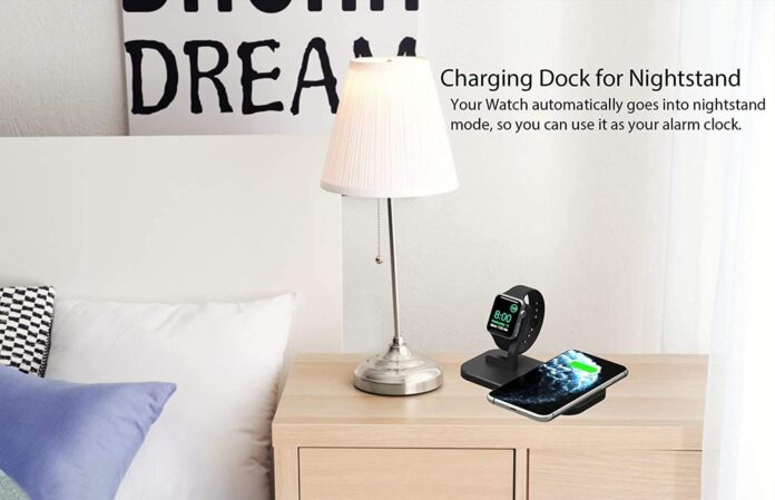 BNCHI 2 in 1 Aluminum Alloy Wireless Charging Station