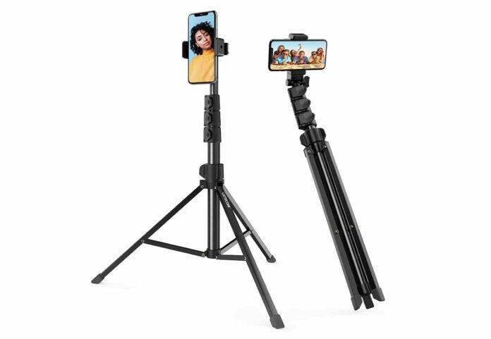 LETSCOM 67-inch Extendable Selfie Stick Tripod Stand with Phone Holder
