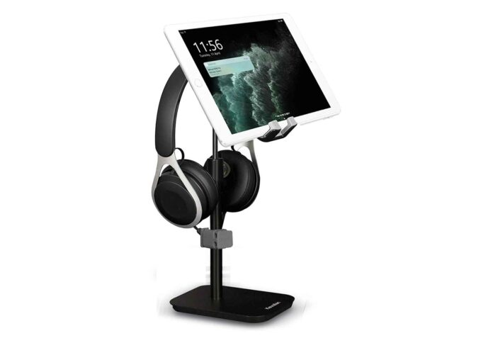 Phone Stand with Headphone Holder