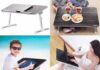 Nearpow Adjustable Laptop Bed Stand