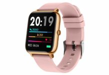 Popglory 1.4 inch LCD Full Touch Screen Smartwatch