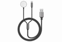 2 in 1 Wireless iWatch & iPhone Charging Cable