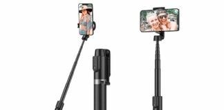 Yoozon 47.3'' Max Bluetooth Selfie Stick