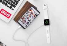 2 in 1 Portable Wireless Watch Phone Charger Charging Cable