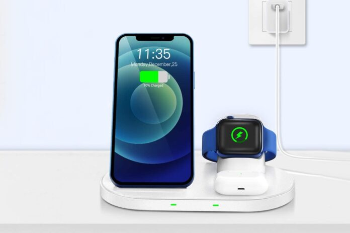 WAITIEE Wireless Charger 3 in 1 Stand